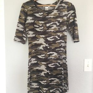 Super cute army colored dress
